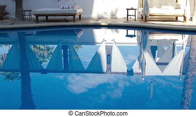 boutique, hôtel, luxe, piscine, natation