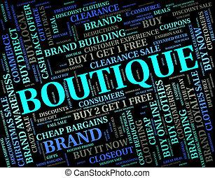 boutique, parola, mezzi, commerciale, attività, e, abbigliamento