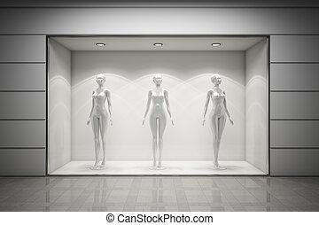 boutique, raam tentoonstelling