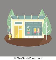 Boutique shop facade