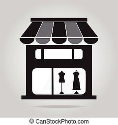 Boutique shop icon