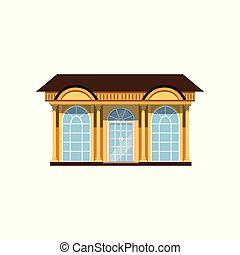 Boutique with showcases, store facade vector Illustration