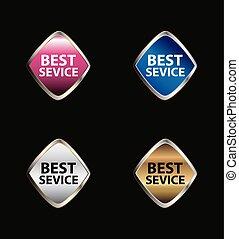 bouton, étiquette, mieux, service