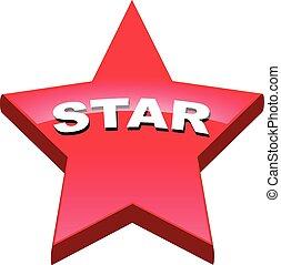 bouton, étoile