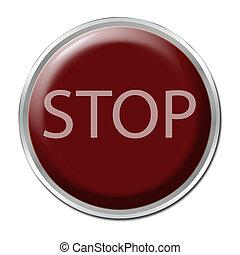 bouton arrêt