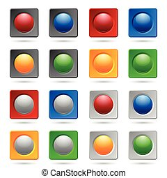 bouton, arrière-plans, ou, icône