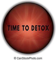 bouton, badge., rouges, detox, temps