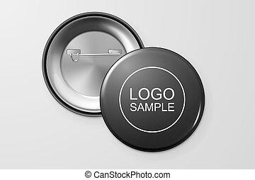 bouton, badge., vide