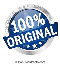 bouton, bannière, 100%, original