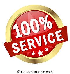 bouton, bannière, 100%, service