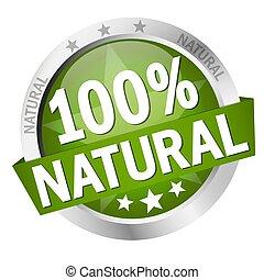 bouton, bannière, naturel, 100%