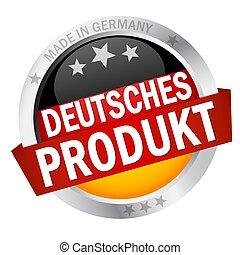 bouton, bannière, produkt, deutsches