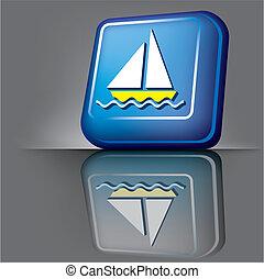 bouton, bateau