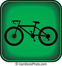 bouton, carrée, vélo, icône, internet