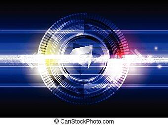 bouton, cercle, résumé, puissance