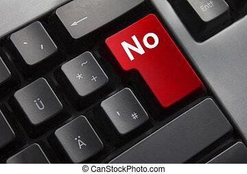 bouton, clavier, rouges, non
