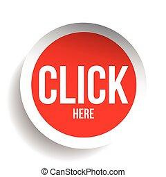bouton, cliquez ici, icône