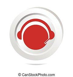 bouton, contact, signe, opérateur, icône