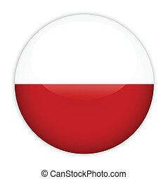 bouton, drapeau, pologne