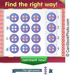 bouton, droit, trouver, manière
