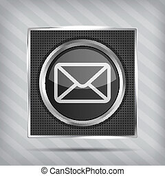 bouton, email, icône