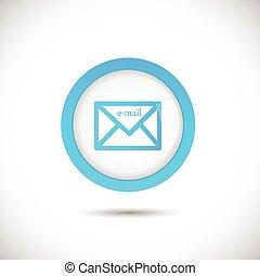 bouton, email, illustration