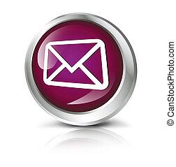 bouton, enveloppe, symbole.
