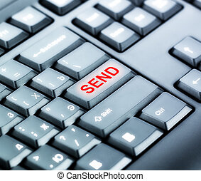 bouton, envoyer, clavier