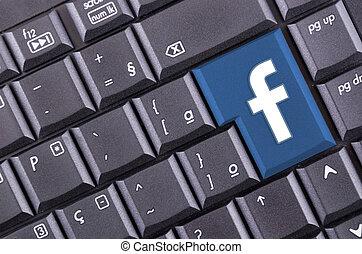bouton, facebook