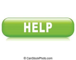 bouton, fond blanc, aide
