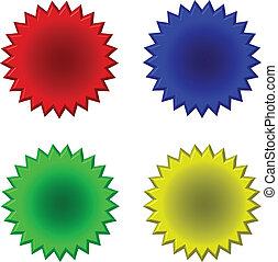 bouton, forme étoile