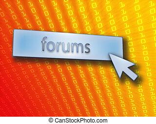 bouton, forum
