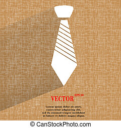 bouton, hipster, tie., fond, résumé, toile, géométrique, moderne, plat