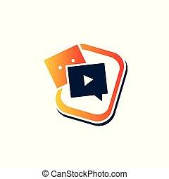 bouton, icône, jeu, logo, bavarder
