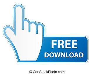 bouton, illustration, main, curseur, vecteur, gratuite, téléchargement, souris