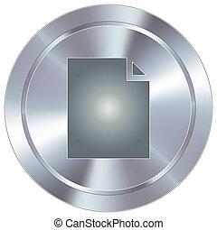 bouton, industriel, document, icône