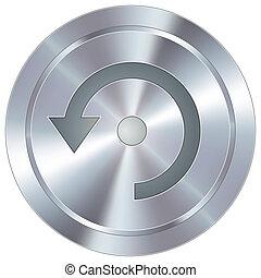 bouton, industriel, rafraîchir, icône