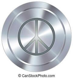 bouton, industriel, signe paix