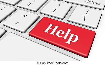 bouton, informatique, aide