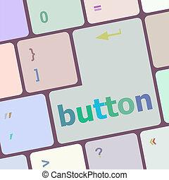 bouton, informatique, mot, clã©, clavier