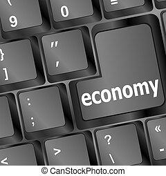 bouton, informatique, noir, économie, clavier