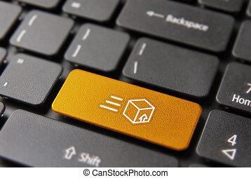 bouton, livraison rapide, informatique, expédition, clã©