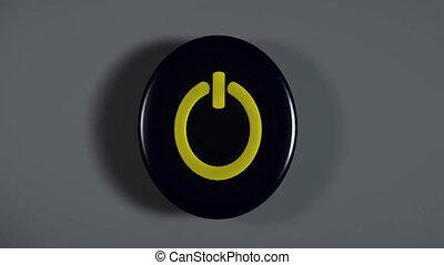 bouton marche, informatique