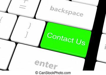 bouton, nous contacter, clavier