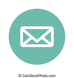 bouton, ou, email, message image, thumbnail