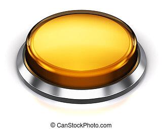 bouton, rond, jaune
