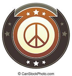 bouton, signe paix, impérial