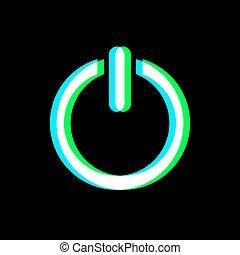 bouton, symbole, activer, art, visuel