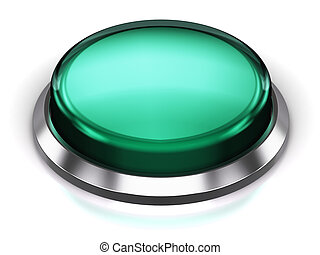 bouton, turquoise, rond