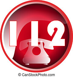 bouton, urgence, 112